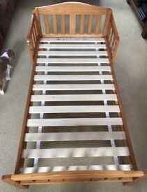 Mothercare toddler bed and mattress