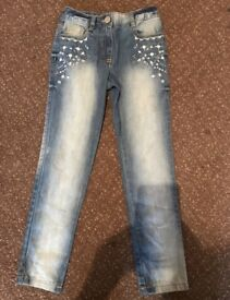 Girls jeans (next) aged 7 years new without tags