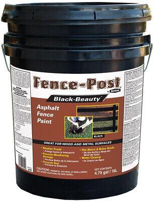 Weatherproof Wood (Asphalt Fence Paint Wood Metal Mansonry Weatherproof Finish 4.75 Gal Black NEW )
