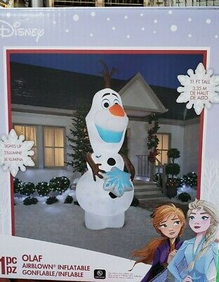 Gemmy 11ft Frozens Olaf with Giant Snowflake Christmas Inflatable