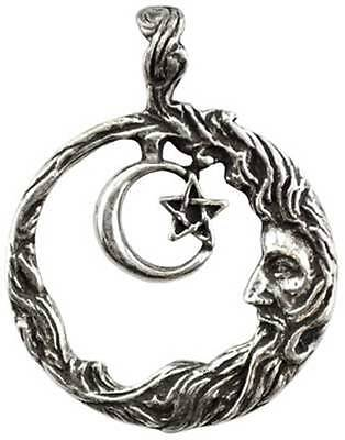 NEW Wicca Wisdom Moon Amulet Pendant