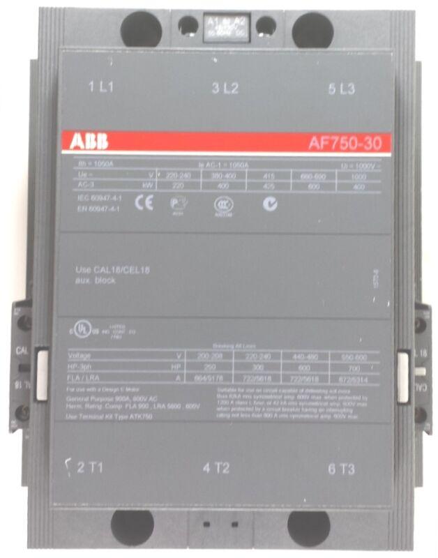 ABB AF750-30 SIZE 600HP 600V 672A 48-13DCV COIL CONTACTOR 2N.C  MOTOR STARTER