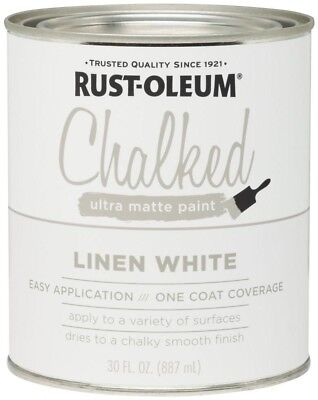 Rust-Oleum 285140 Ultra Matte Interior Chalked Paint, Linen Snow-white