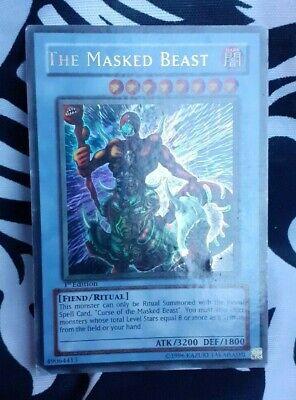 YuGiOh Konami LON-001 1st Edition Ultra Rare The Masked Beast ASIAN ENGLISH