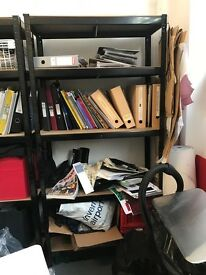 Metal rack shelf storage unit