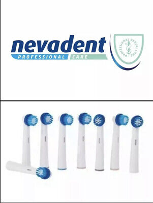 Nevadent Replacement Toothbrush Heads 8 x New MODEL!!!! CHECK YOU MODEL!!!