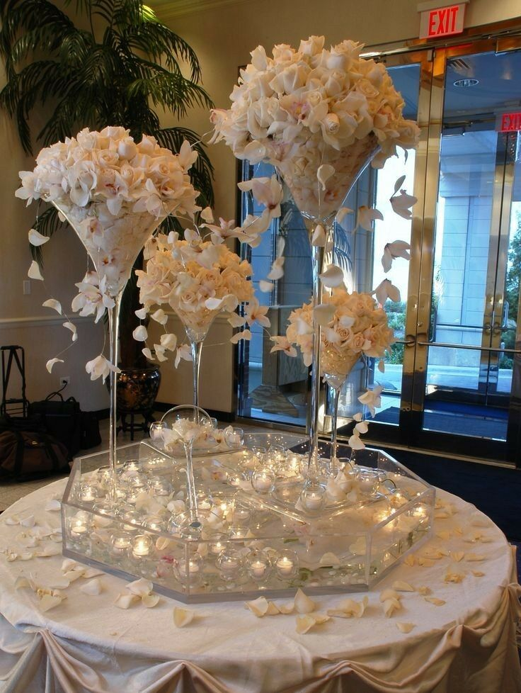 Tall Martini Glass Vase Wedding Table Centerpiece 16 20 23 Clear