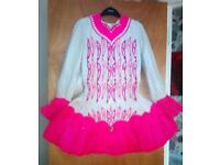 Irish dancing dress in very good condition, aged 12/13