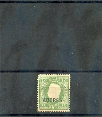 AZORES Sc 32(SG 53A)*F-VF LIGHT HR, PERF 12 1/2, SIGNED, $280 Azores 2 Light