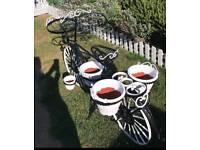Bike with flower pot holders