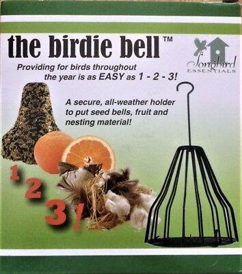 Birdie Bell Cage for Nesting Material, Fruit, Seed Bells, Suet  Bird Feeder