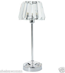 Laura Ashley Capri crystal table lamp small. NEW in box.