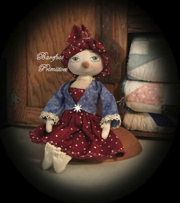 Christmas Snow girl doll Sculpted Pearl Snowman Paper Patten