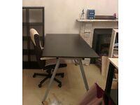 Desk IKEA Galant Black, Adjustable Height