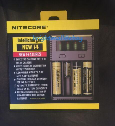 New 2019 Nitecore I4  Intelli Charger For Aa 18650 18500 14500 18350 18700