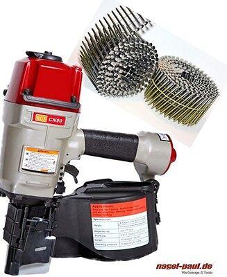 Industrienagler Coilnagler CN 90 Druckluftnagler v. 50 - 90 mm + Coilnägel 16°