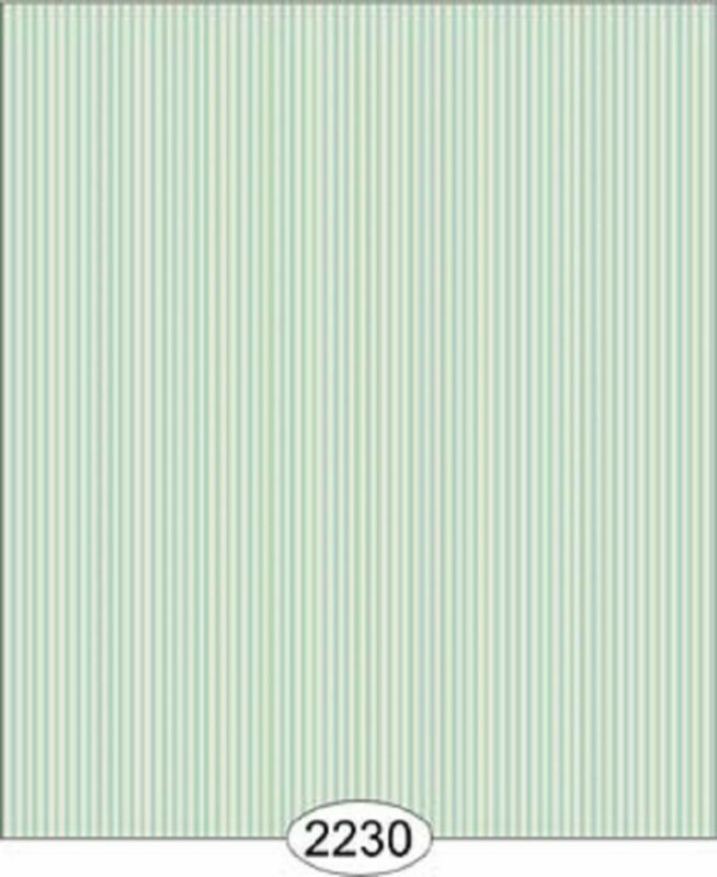 Dollhouse Wallpaper Julia Stripe Blue