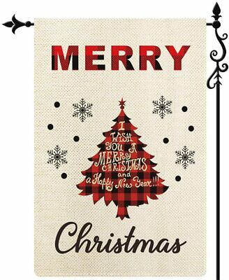 Coskaka Merry Christmas Garden Flag Xmas Tree Snowflake Vertical Double Sided Re