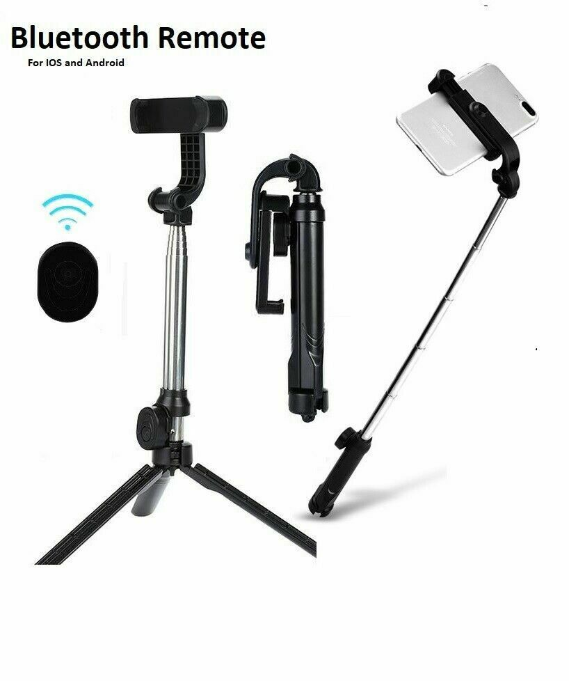 Selfie Stick Tripod Desktop Stand For iPhone Samsung Wireles