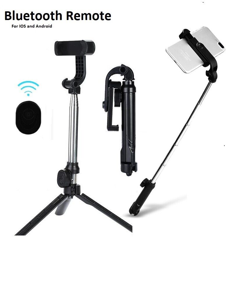 Extendable Wireless Tripod Selfie Stick For iPhone Samsung B