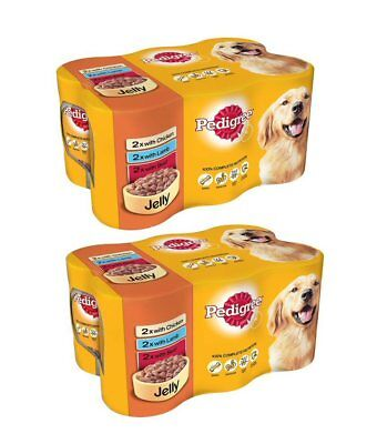 Dog food PEDIGREE Dog Tins Mixed Selection in Jelly 12 x 385g Handy Straps