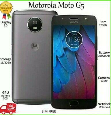 Motorola Moto G5 DUAL SIM Grey 16GB *UNLOCKED* Smartphone All Grades