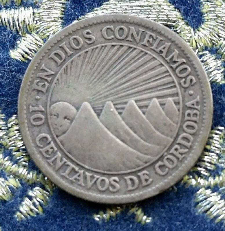 1930  10 Centavos.  Nicaragua.  KEY DATE.  Low mintage