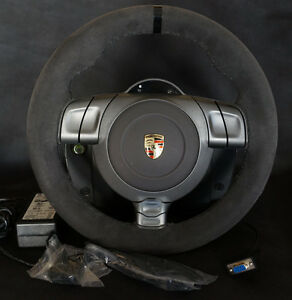 fanatec porsche 911 gt2 wheel xbox 360 playstation pc with extras ebay. Black Bedroom Furniture Sets. Home Design Ideas