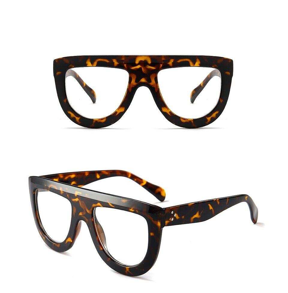 Men/'s Women vintage retro Style Clear Lens eye glasses thick black fashion frame