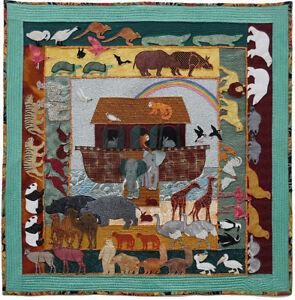 Noah's Ark PDF Machine Applique pattern by Debora Konchinsky, Critter Pattern