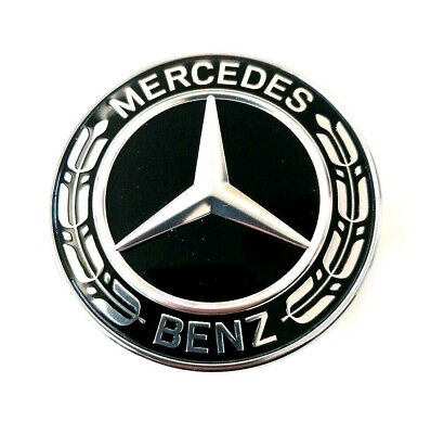 Original Mercedes Emblem vorn mitte Lorbeerkranz schwarz CLA W117 C117 GLA W156