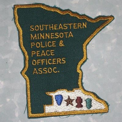 "Southeastern Minnesota Police & Peace Officers Assoc. Patch  - 3 3/4"" x 4 3/8"""