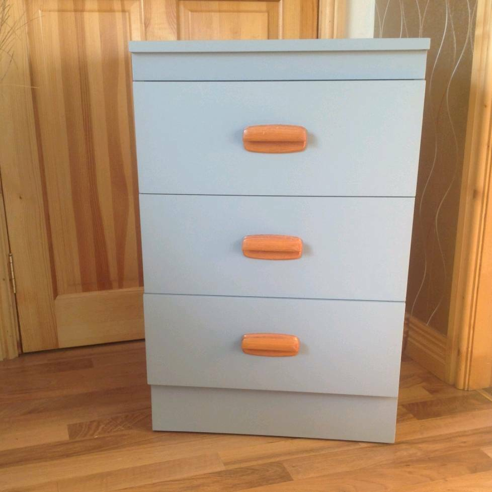 Bedside Locker With 3 Drawers