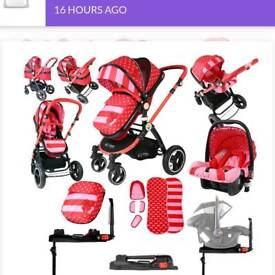 Isafe pushchair with car seat