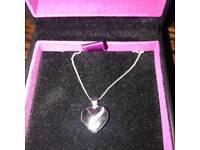 9ct White Gold Diamond Heart Locket Necklace 375 H.samuel 9 carat 9kt