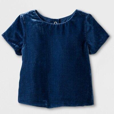 Girls Oshkosh Genuine Kids Velvet Top Shirt  Marine Blue Size 18M NWT Velvet ()