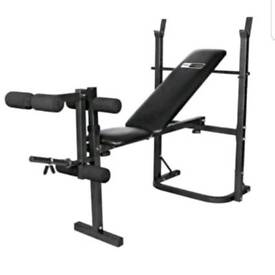 Pro Fitness Multi-Use Workout Bench Gym Weight with 65kg vinyl weights (brand new and boxed)