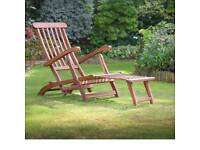 WANTED WOODEN SUN LOUNGER WITH OR WITHOUT CUSHIONS
