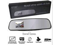 Car Vehicle 2.7 Inch Rear View Mirror Dash DVR Camera / Cam