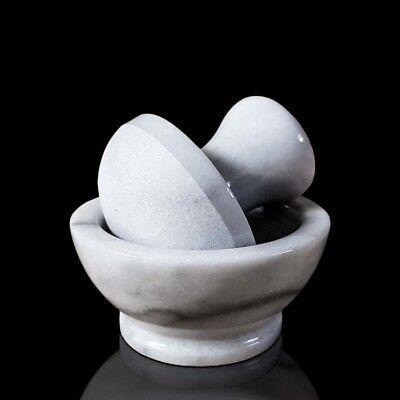 Mortero de Cocina En Mármol Blanco Con Majadero Italian Marble 10cm