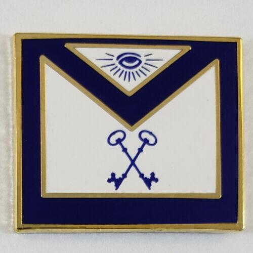 Masonic Officer Apron Treasurer Lapel Pin Mason (SCA) Freemason