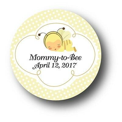 30 Mommy to Bee Personalized Baby Shower Invitation Favor Stickers - Bumble - Mommy To Bee