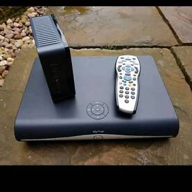 Sky HD Box With Remote And Wifi Router