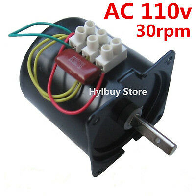 Ac 110v 30rpm Reversible Motor High Magnetic Torque D-shape Shaft Low Speed