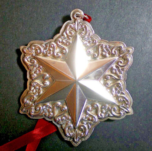 2001 Towle Old Master Star Sterling Christmas Ornament 5th Edition