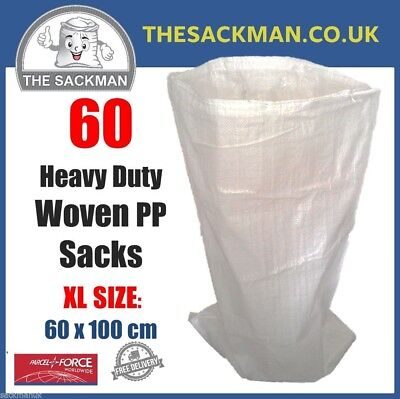 60 Extra Large Woven Polypropylene Rubble Sacks