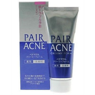 LION Pair Acne Creamy Foam Medicated Facial Cleansing 80g japan