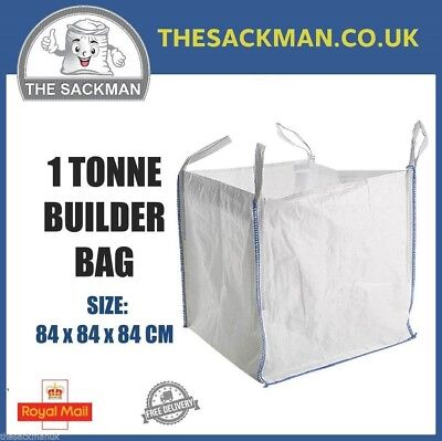 1 TONNE TON BULK BAGS BUILDERS FIBC AGGREGATE SACKS, RUBBLE SACKS MINISKIPS BAG