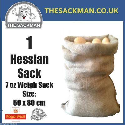 1 Jute Hessian Sacks 7oz , Storage, Crop Sacks, Strong Santa Sack, Sack Race