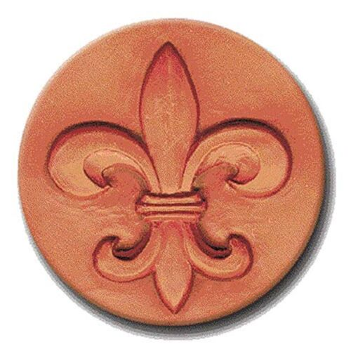 "RYCRAFT 2"" Round Cookie Stamp with Handle & Recipe Booklet--FLEUR DE LIS"